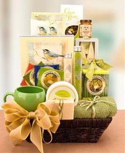 Baskets of snack food, spa supplies and more are great for personalizing your senior's gift.