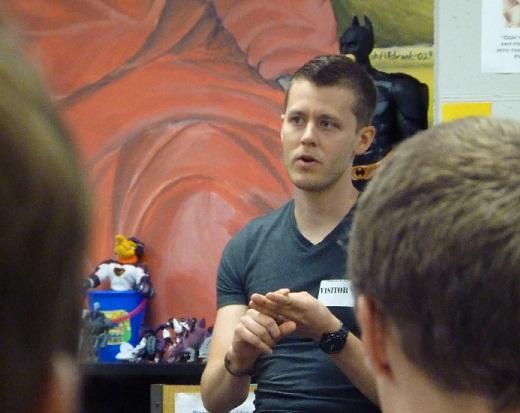 Hamilton Lewis Talks to Free State Students