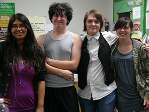 Lesly Paniagua, Josh Cobb, Rebecca Hubbard, and Delaine Cook are members of Hostess Club