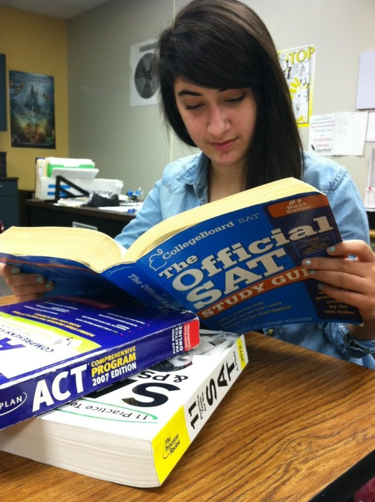 Junior Josie Naron begins to prepare for her SAT, which she will take later this month.