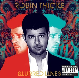 "Robin Thicke's ""Blurred Lines"" album cover"