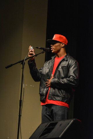 """Khaury El-Amin shares poem """"What's Up Dad?"""" at the talent show"""