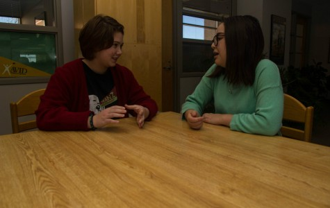 Hanna Koontz And Juna Murao Discuss Feminism and how it relates to Free State. Feminist club had its first meeting Monday January 26th.