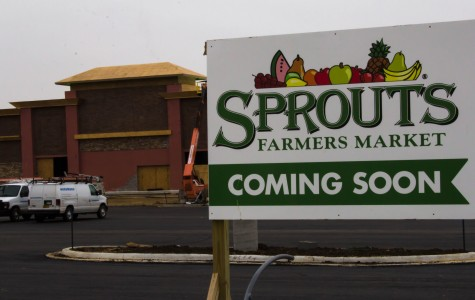 Sprout's Farmers Market is an organic grocery store under construction across from Free State.