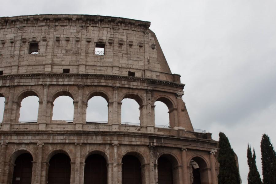 The French and Latin classes visited the Colosseum while in Rome.