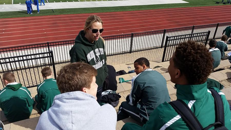 Science teacher Joanna Romito coaches sprinting for Free State. I want to make sure we all feel like we are a team, and that no ones out there doing anything individually, Romito said. Romito succeeded previous coach Kyle Ellis after he took a job at Washburn Rural.