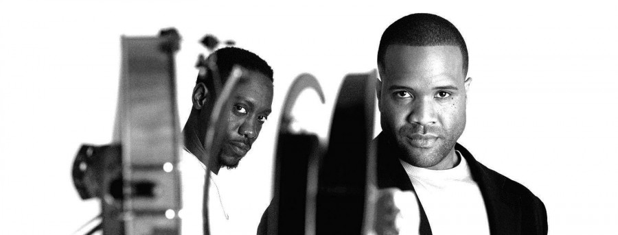 Kevin Marcus and Wil B of Black Violin pose with their instruments. The duo is coming to the Lied Center on October 1.