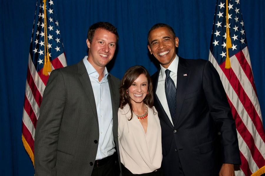 Basketball coach and social studies teacher, Sam Stroh, won the opportunity to meet President Obama and Michael Jordan.
