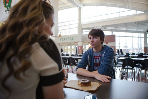 """Dating has changed a lot since the Gen X generation. """"People don't really go on dates anymore,"""" senior Ethan Kallenberger said."""