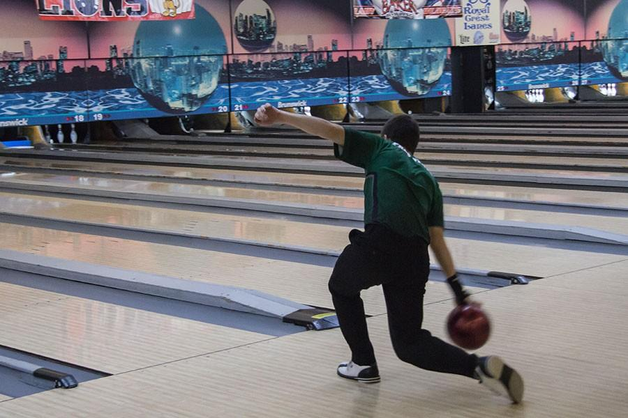 Unlike most sports, the bowling holds their practice across town at Royal Crest Lanes. The team has preformed well so far and hopes to go to state.
