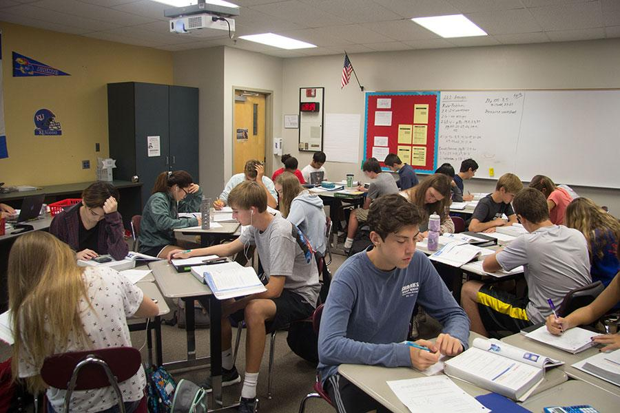 Core classes like Kristen Diefendorf's Math 101 are at capacity.  The 2016 freshmen class was the largest the school has seen,