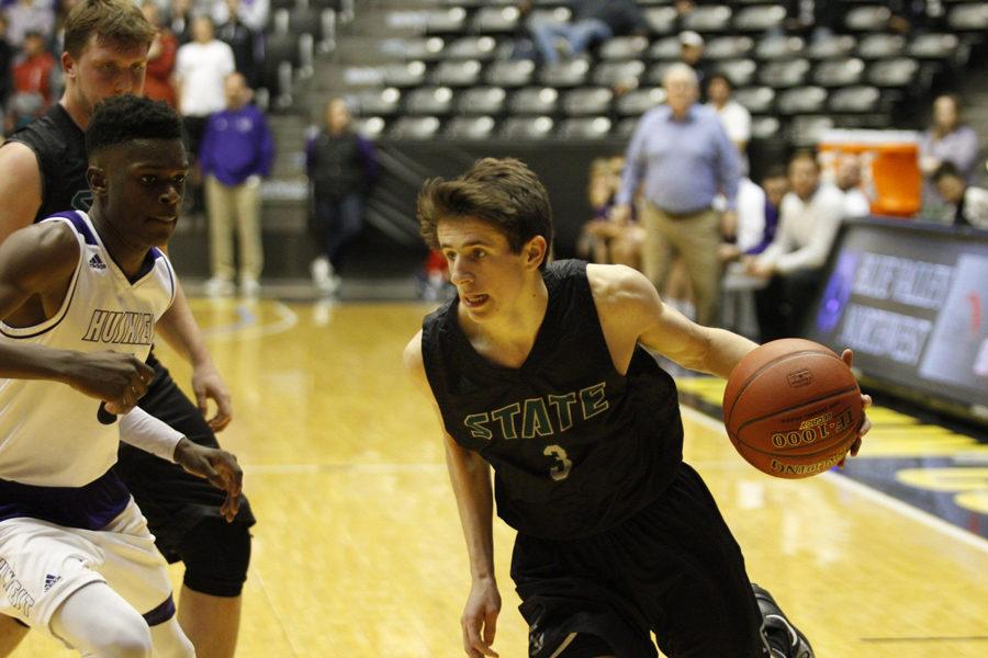 Starting for Free State, junior Garrett Luinstra scored 8 points in Wichita at the semifinals.