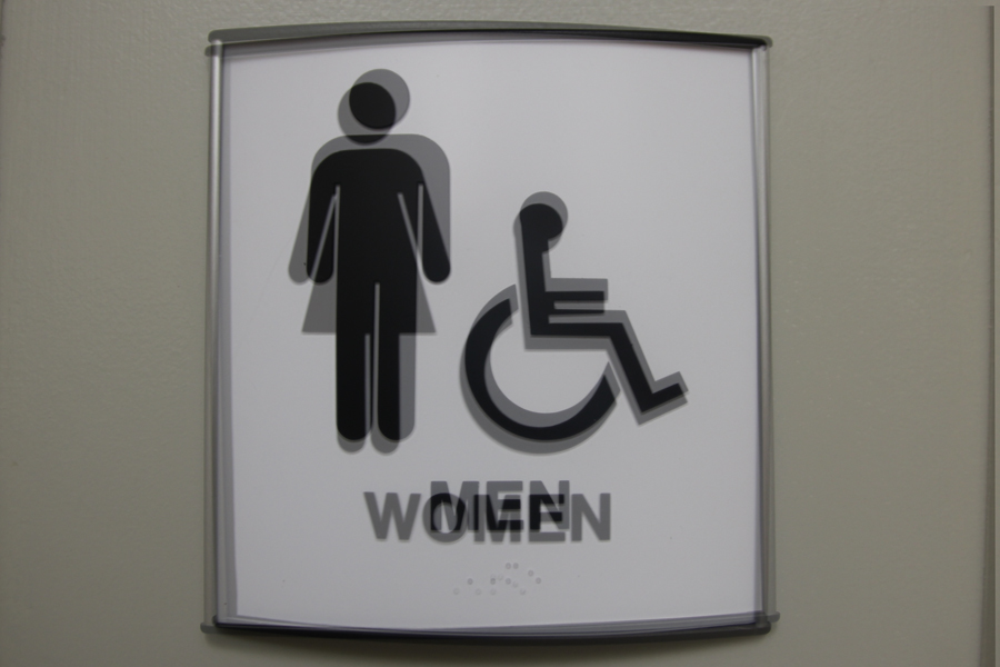 Some gender queer students face confusion when entering school restrooms.