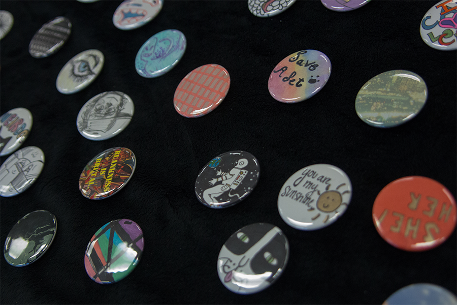 Pins+sold+by+Art+Club+during+lunch+which+went+to+support+the+Humane+Society.+The+pins+were+designed+by+members+of+the+club
