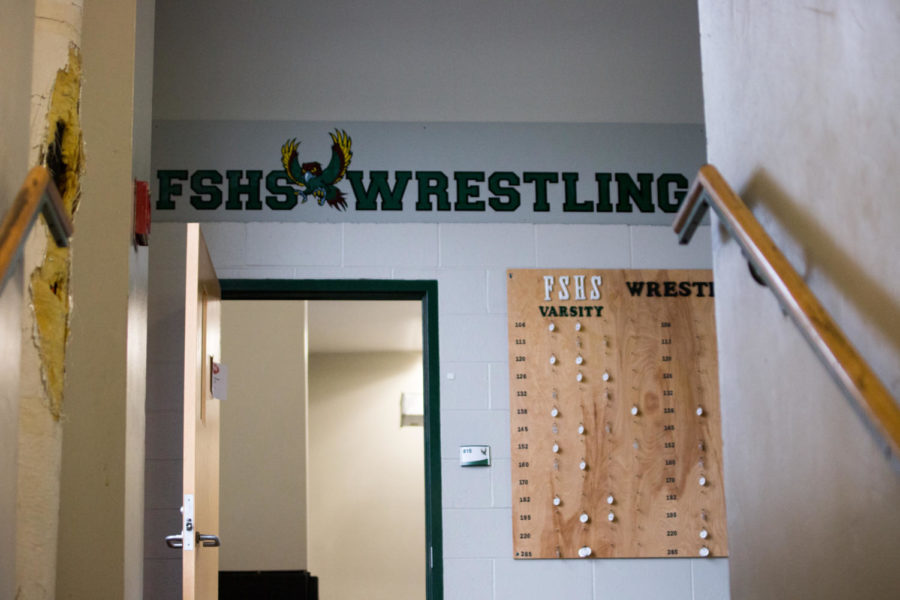 At the top of the stairs leading to the wrestling room, holes can be seen. The construction plans aim to fix this.