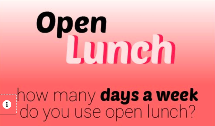 Open lunch interactive infographic