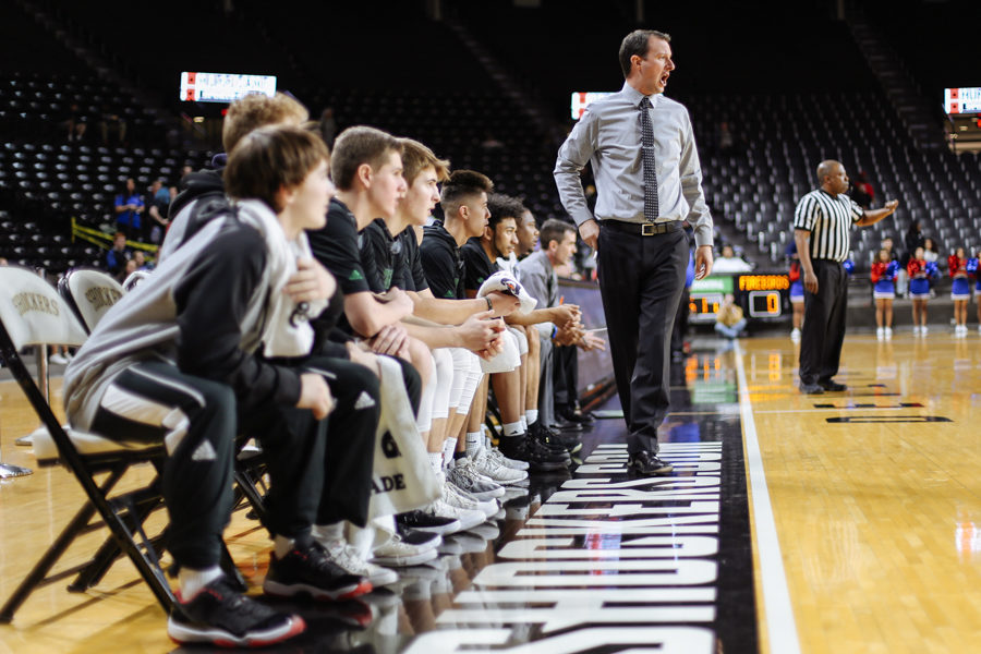 Photo Gallery: Boys basketball versus Wichita South in Koch Arena