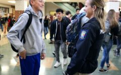 Female students relate to new student resource officer Shelby Frazier