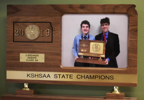 Seniors Max Lillich and Spencer Yost-Wolf take debate State title