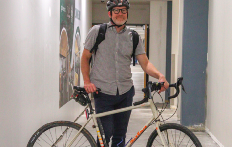 Teachers Sam Rabiola and Stuart Strecker bike to school
