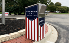 A ballot box sits ready for Douglas County voters. Despite many not being old enough to vote, Free State students have found ways to be civically engaged.